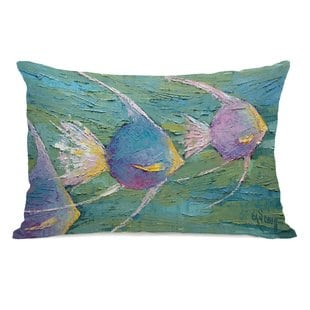 ciotti-angels-on-parade-outdoor-lumbar-pillow Nautical Pillows and Nautical Throw Pillows