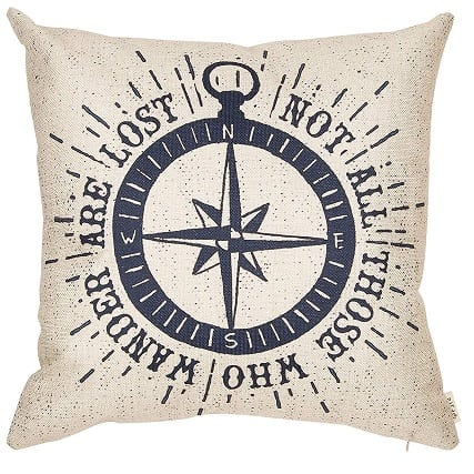 compass-throw-pillow Nautical Pillows and Nautical Throw Pillows