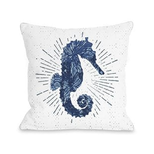 holmgren-seahorse-bursts-outdoor-throw-pillow Nautical Pillows and Nautical Throw Pillows