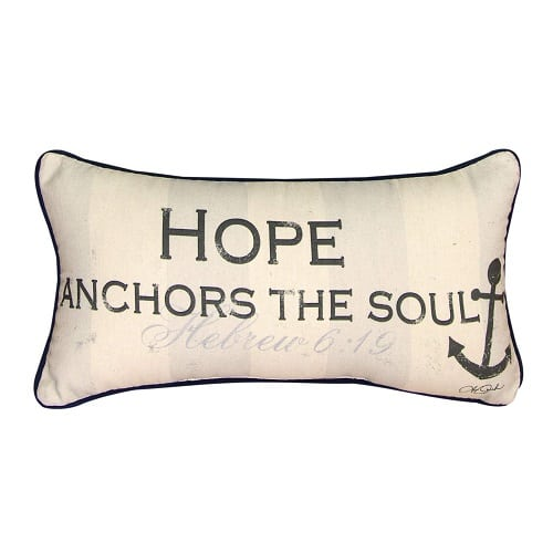 hope-anchors-the-soul-throw-pillow Nautical Pillows and Nautical Throw Pillows