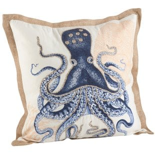neptunian-octopus-cotton-throw-pillow Nautical Pillows and Nautical Throw Pillows