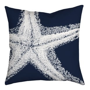 spongy-starfish-watercolor-graphic-throw-pillow Nautical Pillows and Nautical Throw Pillows