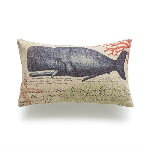 whale-throw-pillow-lumbar Nautical Pillows and Nautical Throw Pillows