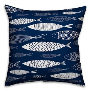 zambrana-school-of-fish-outdoor-throw-pillow Nautical Pillows and Nautical Throw Pillows