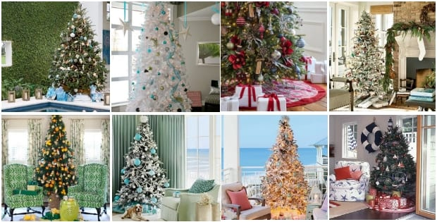 beach christmas trees