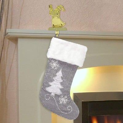 gray-christmas-stocking Beach Christmas Stockings