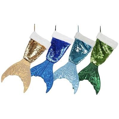 mermaid-tail-sequin-stocking Beach Christmas Stockings