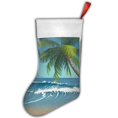 palm-tree-tropical-christmas-stocking Beach Christmas Stockings