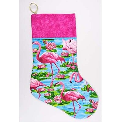 pink-flamingo-tropical-xmas-stocking Beach Christmas Stockings
