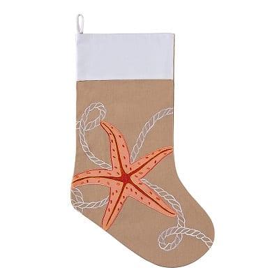 starfish-rope-beach-christmas-stocking Beach Christmas Stockings