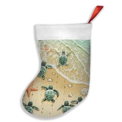 turtle-sand-beach-xmas-stocking Beach Christmas Stockings