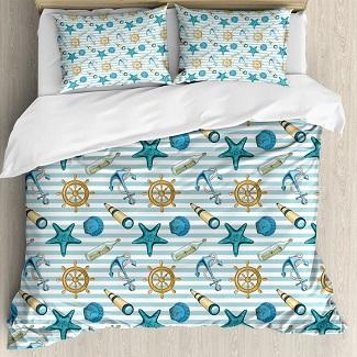 beach-seashell-bedding-set Coastal Bedding Sets and Beach Bedding Sets
