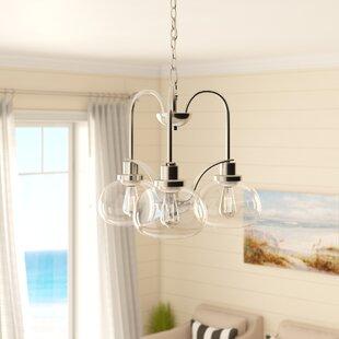 braxton-3-light-shaded-chandelier Beach Themed Chandeliers