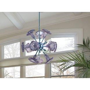 lapidge-art-glass-hanging-fixture-6-light-bell-pendant Beach Themed Chandeliers
