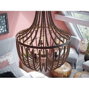 tilden-wood-bead-5-light-empire-chandelier Beach Themed Chandeliers