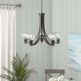 waldon-5-light-shaded-chandelier Beach Themed Chandeliers