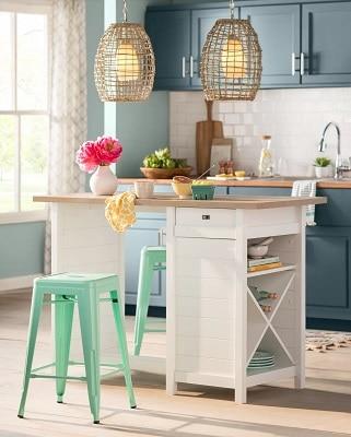 beach-kitchen-design-by-Wayfair-Catalog-in-Late-Spring-2018-Catalog Beach Kitchen Decor and Coastal Kitchen Decor