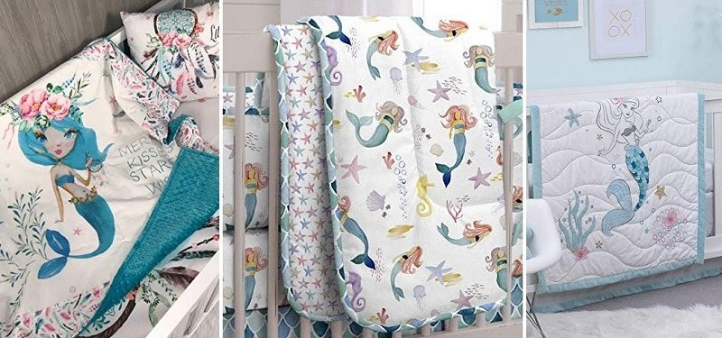 mermaid crib bedding sets