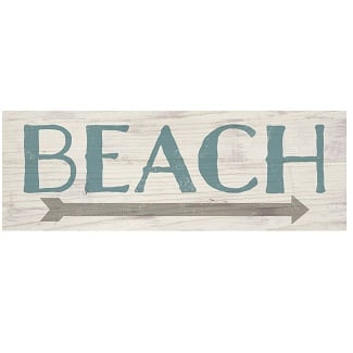 beach-arrow-wood-sign-plank 100+ Wooden Beach Signs and Wooden Coastal Signs