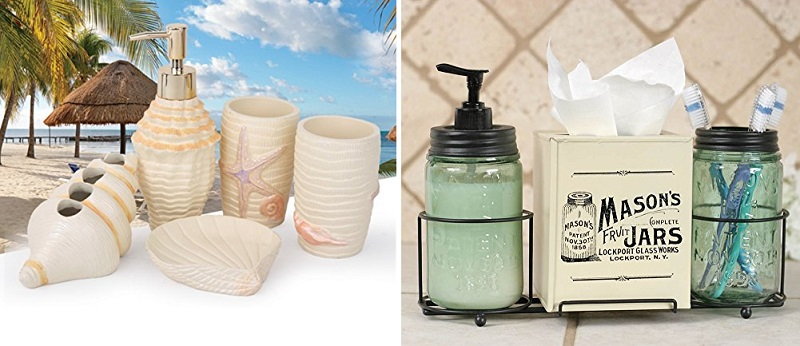 beach bathroom accessory sets