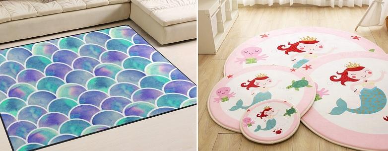 mermaid area rugs
