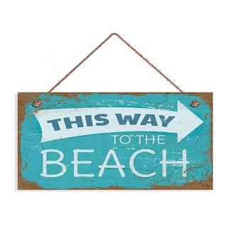 this-way-to-the-beach-wooden-wall-decor 100+ Wooden Beach Signs and Wooden Coastal Signs