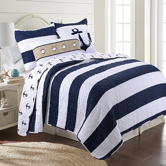 James-Home-Navy-Quilt-Set Nautical Bedding Sets & Nautical Bedspreads