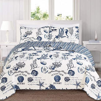 great-bay-home-3-piece-quilt 100+ Nautical Bedding Sets