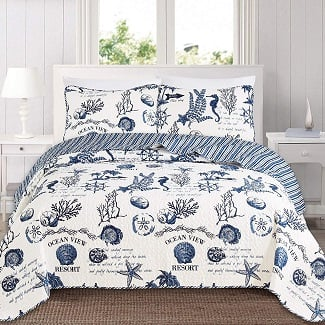 great-bay-home-3-piece-quilt Nautical Bedding Sets & Nautical Bedspreads