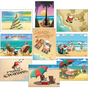 Beach Christmas Cards and Coastal Christmas Cards