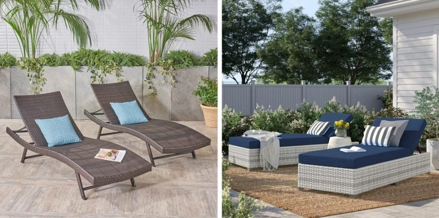 wicker lounge chairs for sale