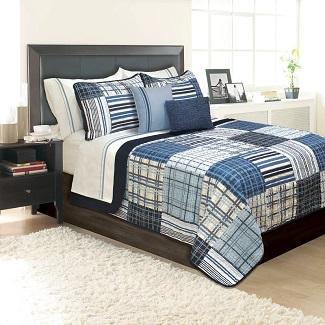 Twin-Saragosa-Reversible-Coverlet-Set Nautical Bedding Sets & Nautical Bedspreads