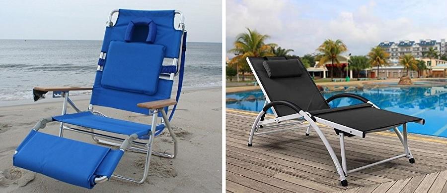 lounge long beach chairs