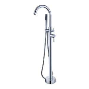 Kebo+Double+Handle+Floor+Mounted+Freestanding+Tub+Filler+Trim