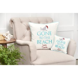 Stahr+Gone+To+The+Beach+Throw+Pillow