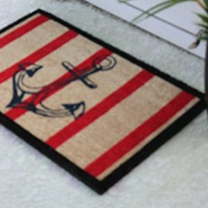 A1 Home Collections Anchor Red And Black Coir Door Mat 0 1 300x300