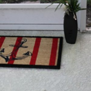 A1 Home Collections Anchor Red And Black Coir Door Mat 0 2 300x300