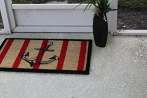 A1 Home Collections Anchor Red And Black Coir Door Mat 0 2