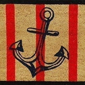 A1 Home Collections Anchor Red And Black Coir Door Mat 0 300x299
