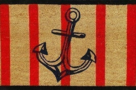 A1-Home-Collections-Anchor-Red-And-Black-Coir-Door-Mat-0-450x299 Beach Doormats and Coastal Doormats