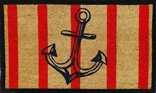 A1 Home Collections Anchor Red And Black Coir Door Mat 0