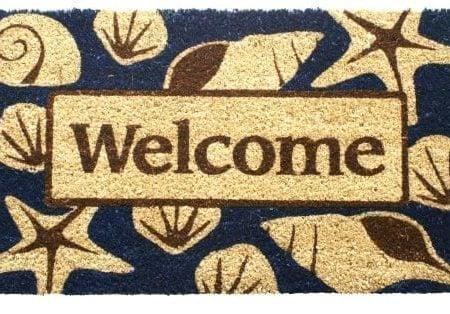 Entryways-Non-Slip-Coir-Doormat-17-Inch-by-28-Inch-Beach-Welcome-0-450x314 Beach Doormats and Coastal Doormats