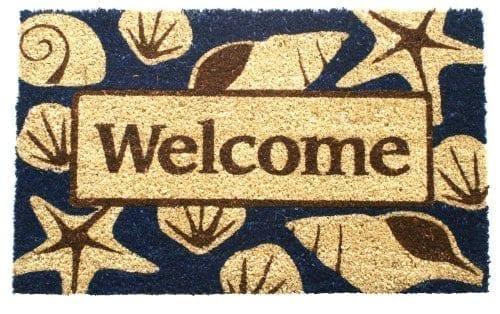Entryways Non Slip Coir Beach Welcome Doormat