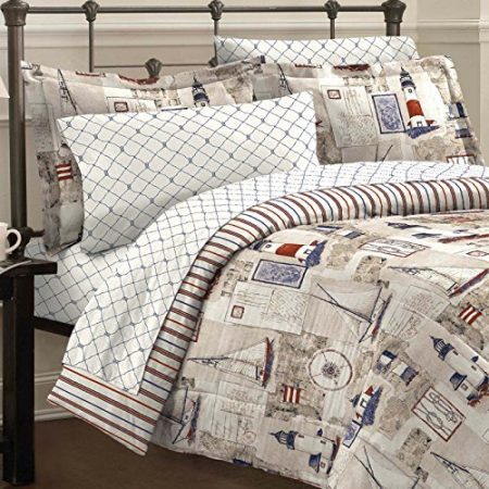 Free Spirit Cape Cod Nautical Lighthouse Bed In A Bag
