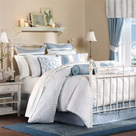 Harbor-House-Crystal-Beach-4-Piece-Comforter-Set-White-0-450x450 Coastal Bedding Sets and Beach Bedding Sets