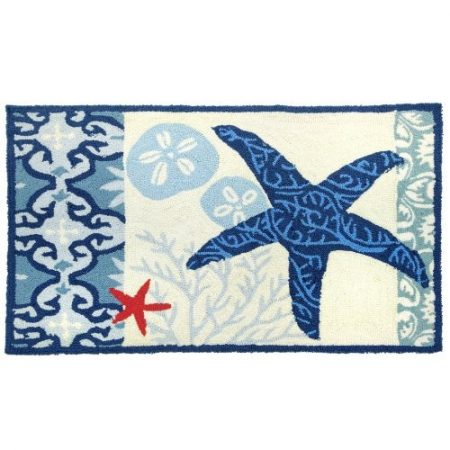 Homefires-Accents-Italian-Tile-with-Starfish-Indoor-Rug-22-Inch-by-34-Inch-0-450x450 Beach Rugs and Beach Area Rugs