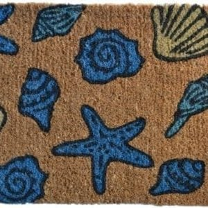 Imports Dcor Decorated Coir Doormat Sea Shells 18 By 30 Inch 0 300x300