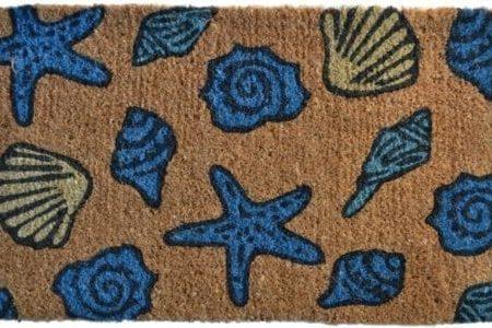 Imports-Dcor-Decorated-Coir-Doormat-Sea-Shells-18-by-30-Inch-0-450x300 Beach Doormats and Coastal Doormats