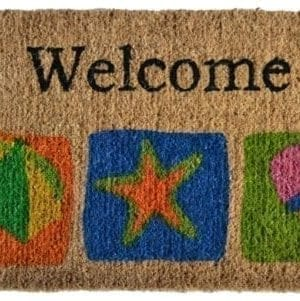 Imports Dcor Decorated Coir Doormat Welcome Beach 18 By 30 Inch 0 300x301