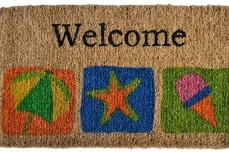 Imports-Dcor-Decorated-Coir-Doormat-Welcome-Beach-18-by-30-Inch-0-450x301 Beach Doormats and Coastal Doormats